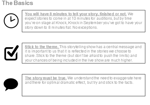 Storytelling Guidelines Graphic